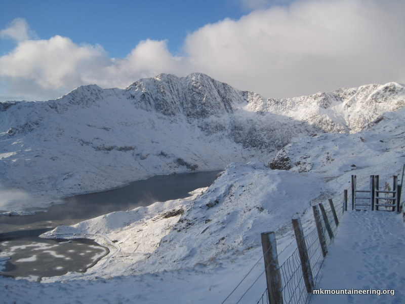 The other side of the Snowdon Horseshoe just before our steep ascent.