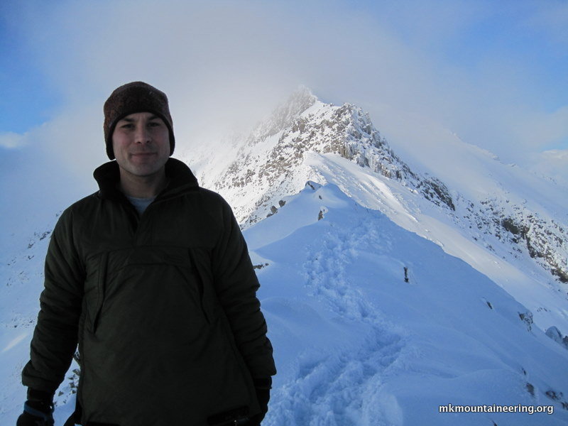 Me on the summit ridge.