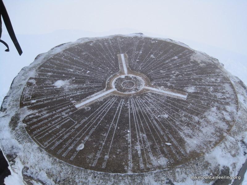 Snowdon\'s summit trig. point.