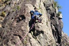 Alan climbing