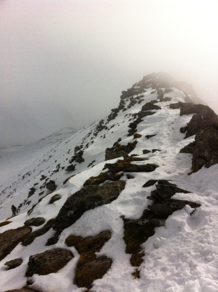 Striding Edge - April 13